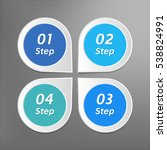 4 steps infographics. isolated...   Shutterstock . vector #538824991
