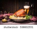 roasted pork knuckle eisbein... | Shutterstock . vector #538832551