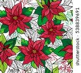 Christmas Card Of Poinsettia...