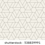 Seamless linear pattern with crossing thin poly lines, polygons. Abstract geometric texture. Stylish background in gray color.   | Shutterstock vector #538839991
