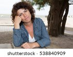mature 40 woman in front of the ... | Shutterstock . vector #538840909
