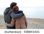 rear view of tourist couple... | Shutterstock . vector #538841431