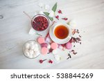 serving table  tea with...   Shutterstock . vector #538844269