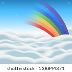background design with rainbow...