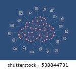 cloud computing concept | Shutterstock .eps vector #538844731