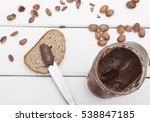 Chocolate Spread With Knife An...