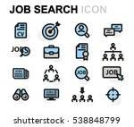 vector flat job search icons set | Shutterstock .eps vector #538848799