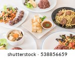 mixed vegan food on the table | Shutterstock . vector #538856659