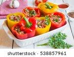 stuffed peppers | Shutterstock . vector #538857961