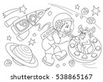 Space Coloring Book Page....