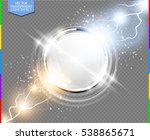 abstract metal chrome ring... | Shutterstock .eps vector #538865671