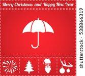 umbrella. flat symbol and bonus ...