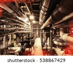 equipment  cables and piping as ... | Shutterstock . vector #538867429