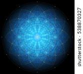complex deep blue geometric... | Shutterstock .eps vector #538870327