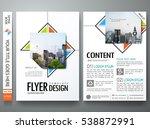 minimal brochure report... | Shutterstock .eps vector #538872991