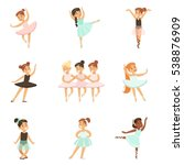 Little Girls Dancing Ballet In...