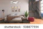 bedroom interior. 3d... | Shutterstock . vector #538877554