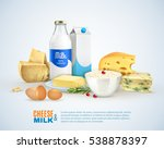 milk products template with... | Shutterstock .eps vector #538878397