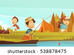 camping children background...   Shutterstock .eps vector #538878475