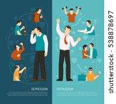 depression vertical banners... | Shutterstock .eps vector #538878697