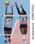 Small photo of Rio de Janeiro, Brazil - august 06, 2016: GLASS Alisha (USA) during volleyball game United States (USA) vs Puerto Rico (PUR) in maracanazinho in the Olympics Rio 2016 by the group phase