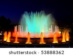 The Famous Montjuic Fountain In ...