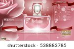 perfume bottle cosmetic ads... | Shutterstock .eps vector #538883785