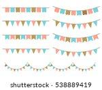 retro illustration of colorful... | Shutterstock . vector #538889419