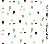 vintage pattern with hearts and ...   Shutterstock . vector #538889449