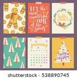 collection of christmas poster ... | Shutterstock . vector #538890745