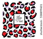 pattern leopard trendy print... | Shutterstock .eps vector #538899601
