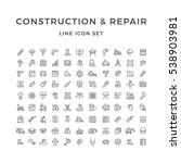 set line icons of construction... | Shutterstock . vector #538903981