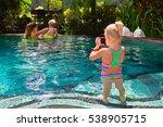 happy family. mother  baby swim ... | Shutterstock . vector #538905715