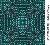 computer circuit board. | Shutterstock .eps vector #538909129