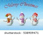 family of snowman christmas | Shutterstock .eps vector #538909471