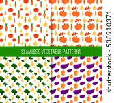 set of 4 cute seamless patterns ... | Shutterstock .eps vector #538910371