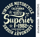 vintage motorcycle  california  ... | Shutterstock .eps vector #538932541
