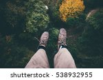 feet selfie on cliff with... | Shutterstock . vector #538932955