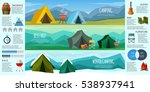 camping infographics. a set of ... | Shutterstock .eps vector #538937941