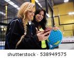 portrait of paddle tennis team... | Shutterstock . vector #538949575