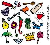 child sketch. vector seamless... | Shutterstock .eps vector #53895688