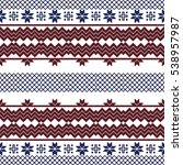 scheme for embroidery nordic... | Shutterstock . vector #538957987