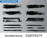 vector brush strokes.black... | Shutterstock .eps vector #538959679