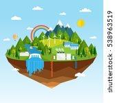 vector illustration of ecology...   Shutterstock .eps vector #538963519