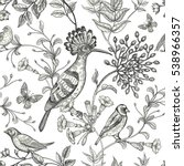 Birds And Flowers Vector...