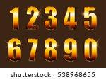 vector golden numbers.set of... | Shutterstock .eps vector #538968655