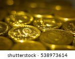 background with gold of coins ... | Shutterstock . vector #538973614