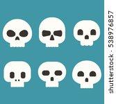 flat skull vector set | Shutterstock .eps vector #538976857
