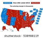 this is how usa voted in the... | Shutterstock .eps vector #538988119