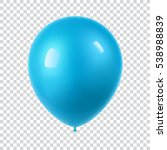 3d realistic colorful balloon.... | Shutterstock .eps vector #538988839